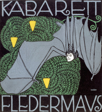 A poster advertising the Fledermaus Cabaret, 1907. Image by © Austrian Archives/CORBIS.